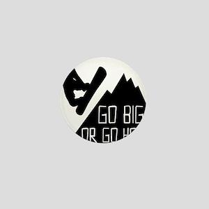 Snowboarder Go Big Mini Button