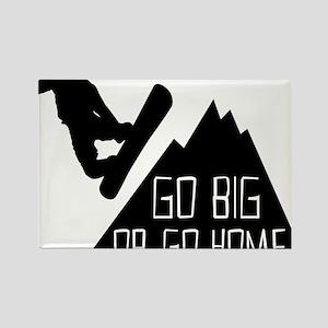 Snowboarder Go Big Rectangle Magnet