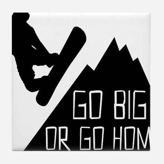 Snowboarder Go Big Tile Coaster