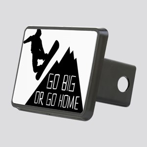 Snowboarder Go Big Rectangular Hitch Cover