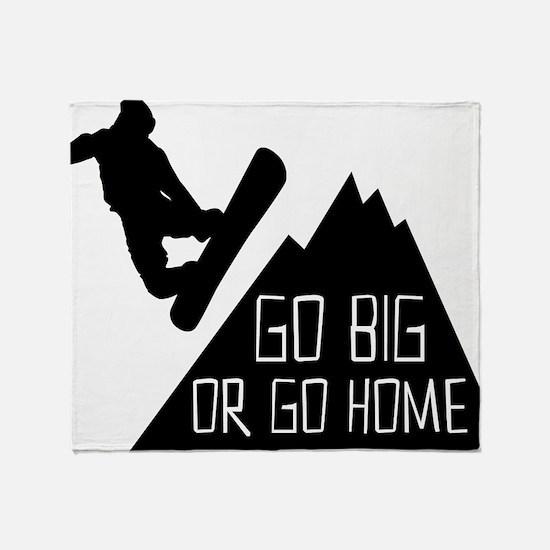 Snowboarder Go Big Throw Blanket