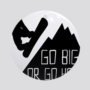 Snowboarder Go Big Round Ornament