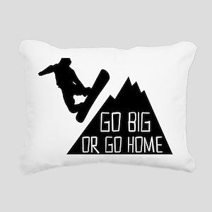 Snowboarder Go Big Rectangular Canvas Pillow