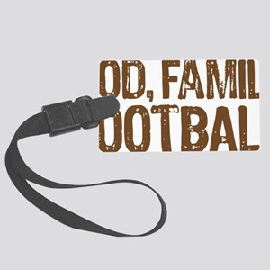 God Family Football Large Luggage Tag