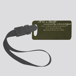 2-truth journal Small Luggage Tag
