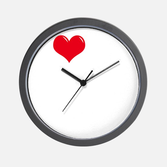 I-Love-My-Brittany-Spaniel-dark Wall Clock