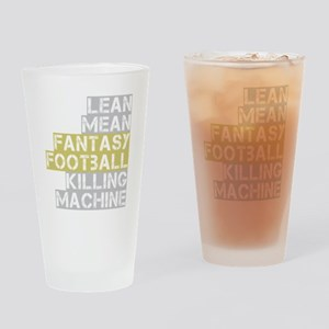 lean mean ff killing machine_dark Drinking Glass