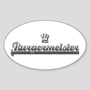 BURGER MEISTER Oval Sticker