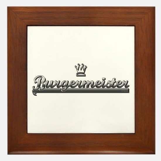 BURGER MEISTER Framed Tile