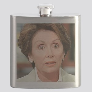 Pelosi and your little dog too 10x10_appare Flask