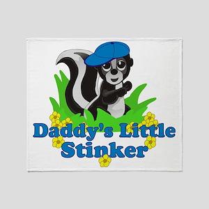 Daddys Little Stinker Boy Throw Blanket