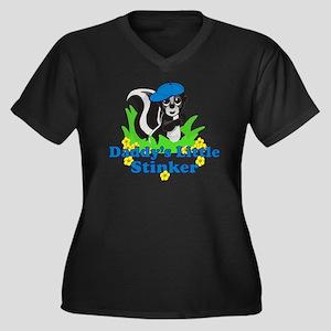 Daddys Littl Women's Plus Size Dark V-Neck T-Shirt