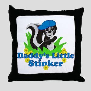 Daddys Little Stinker Boy Throw Pillow