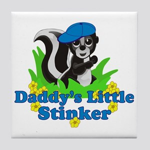 Daddys Little Stinker Boy Tile Coaster