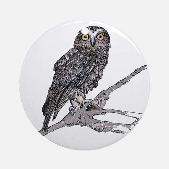 Southern Boobook Owl Round Ornament