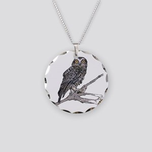 Southern Boobook Owl Necklace Circle Charm