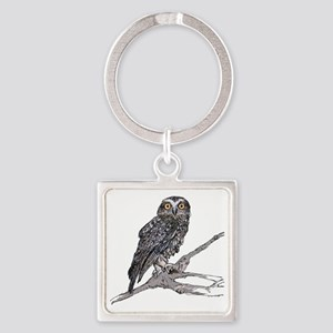 Southern Boobook Owl Square Keychain