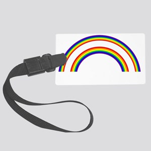DOUBLE RAINBOW WHAT DOES THIS ME Large Luggage Tag