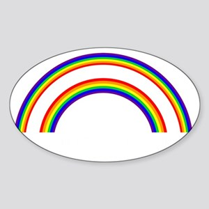 DOUBLE RAINBOW WHAT DOES THIS MEAN Sticker (Oval)