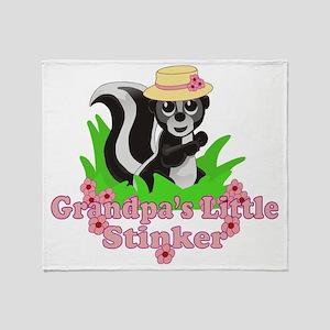 Grandpas Little Stinker Girl Throw Blanket