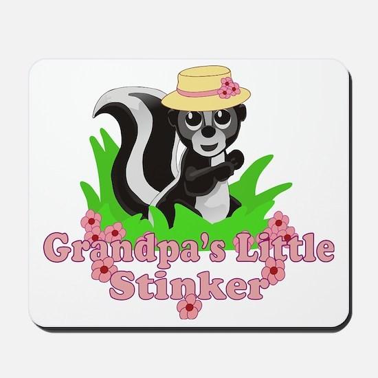 Grandpas Little Stinker Girl Mousepad