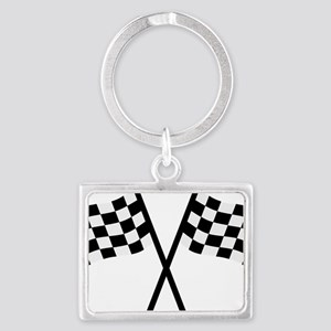 goal_flags Landscape Keychain