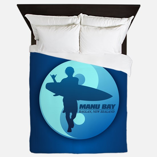 Surf Manu Bay Queen Duvet