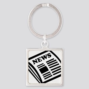 news Square Keychain