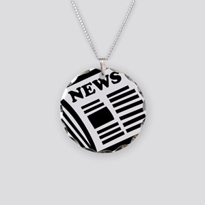 news Necklace Circle Charm