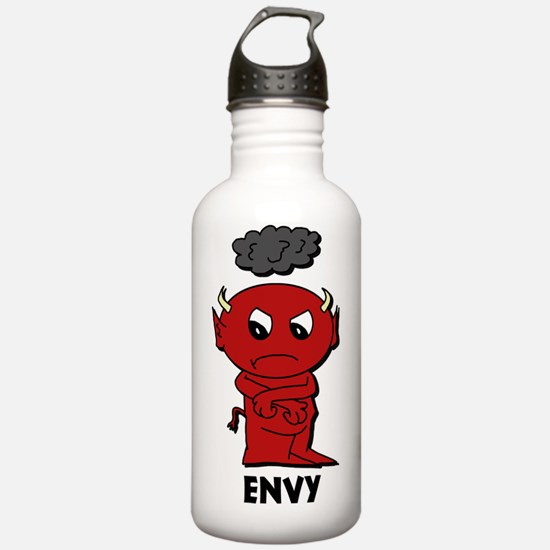 7deadlysinsshirtenvy Water Bottle