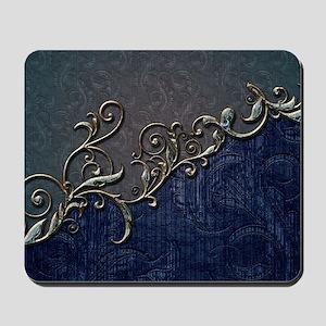 A touch of vintage, elegant floral design Mousepad