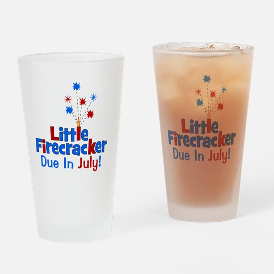 littlefirecrackerdueinjuly Drinking Glass