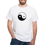 Yin and Yang White T-Shirt