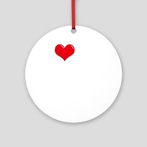 I-Love-My-Doberman-Pinscher-dark Round Ornament