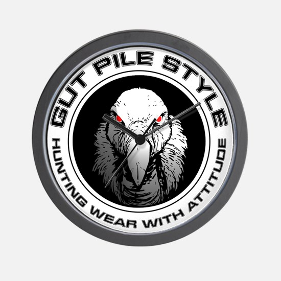 Gut Pile Style Hunting Wear Wall Clock