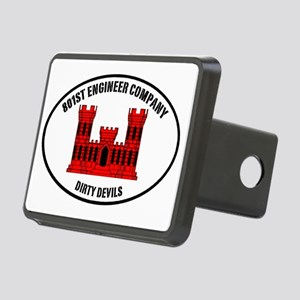 Dirty Devil castle oval Rectangular Hitch Cover
