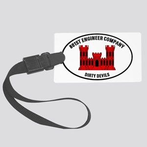 Dirty Devil castle oval Large Luggage Tag
