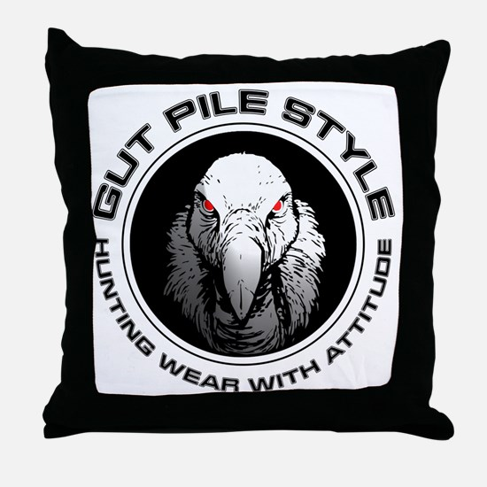 Gut Pile Style Hunting Wear Throw Pillow