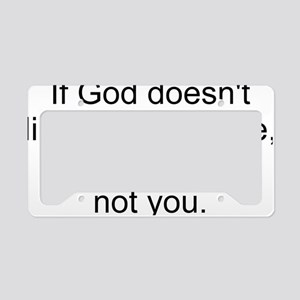 God Way I Live2 License Plate Holder