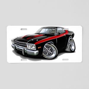 1973-74 Roadrunner Black-Re Aluminum License Plate