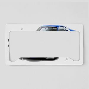 1973-74 Roadrunner Blue-White License Plate Holder