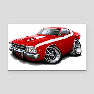 1973-74 Roadrunner Red-White  Rectangle Car Magnet
