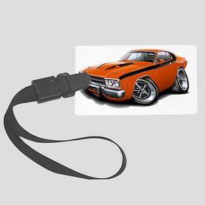 1973-74 Roadrunner Orange-Black  Large Luggage Tag