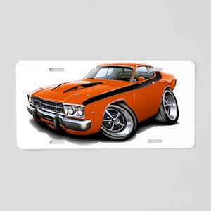 1973-74 Roadrunner Orange-B Aluminum License Plate