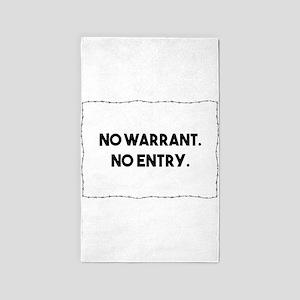 No Warrant. No Entry. Barbed Wire Police Area Rug