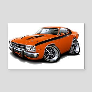 1973-74 Roadrunner Orange-Bla Rectangle Car Magnet