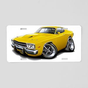 1973-74 Roadrunner Yellow C Aluminum License Plate