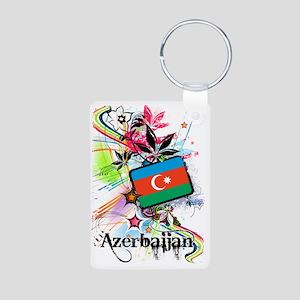 flowerAzerbaijan1 Aluminum Photo Keychain