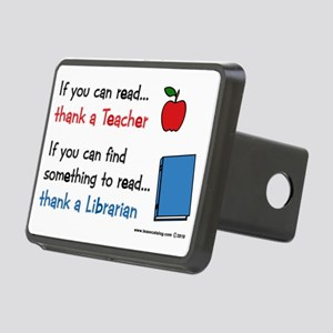 teacher.librarian Rectangular Hitch Cover