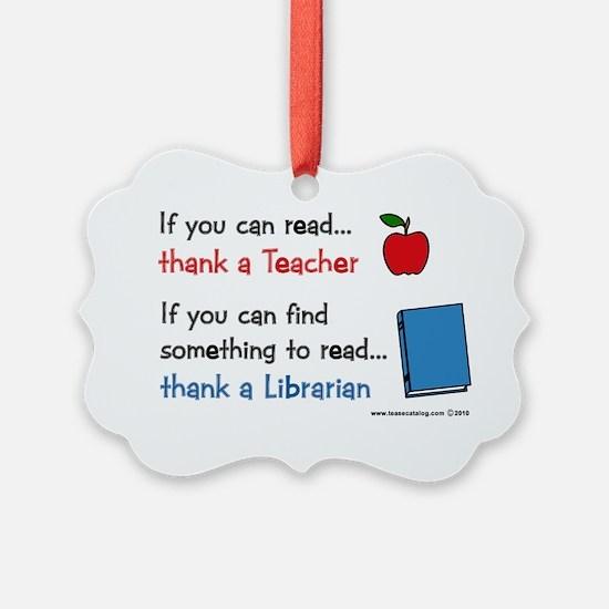 teacher.librarian Ornament